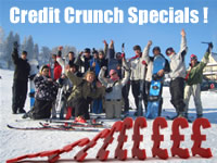 Credit Crunch ski / snowboard holiday SPECIAL OFFER for winter 2009/2010