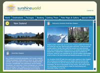 launch Sunshine World New Zealand website