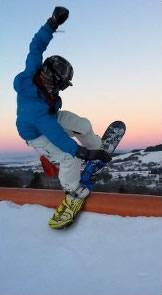 Snowboarding with Sunshine World