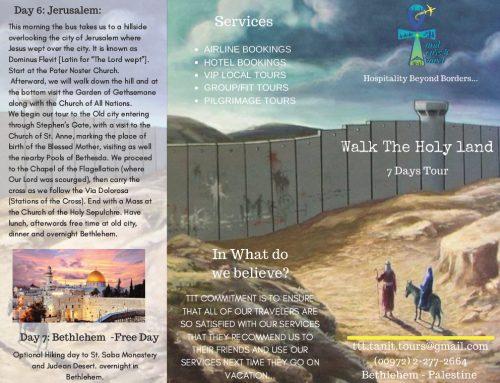 Walk The Holy land 7 Days Tour