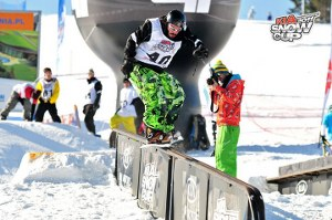 Sunshine World MD in snowboarding competition at 2011 Kia Snowcup