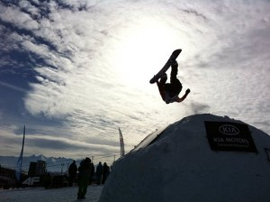 Snowboarder at KIA Snowcup competition in 2011