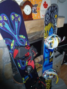 Snowboards back at the Chalet